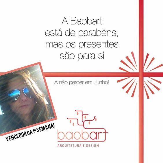 Parabéns à Ana Pereira! Foi a Vencedora do 1º Presente do Aniversário Baobart. Hoje à tarde será lançado mais um sorteio! Aproveite para participar #baobart #decor #decoracao #design #arquitetura #atelier #mobiliario #portugal #pecasdecorativas #criança #aniversario #sorteio #parabèns