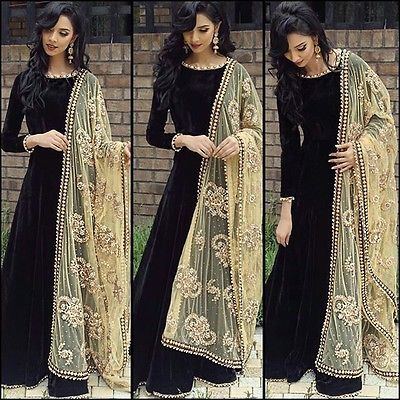 Indian Bollywood Ethnic Designer Anarkali Salwar Kameez Suit & Traditional HBGR
