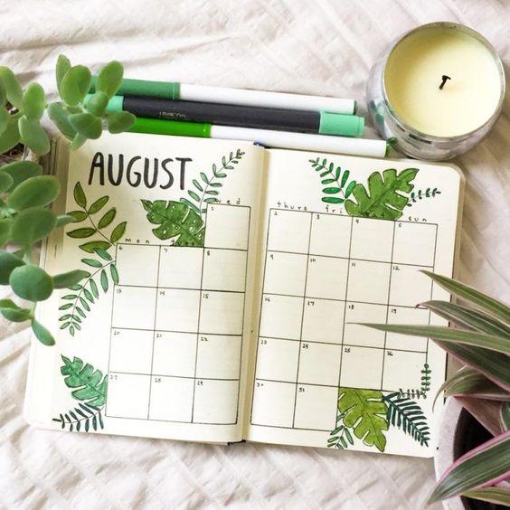 30 idées pour votre page du mois d'août