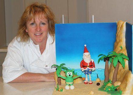 Gummibär and Santa - for Bake A Wish