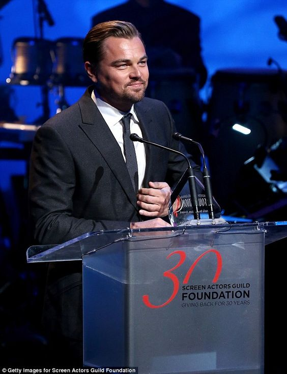 Leonardo DiCaprio at SAG Foundation's 30th Anniversary Celebration in Beverly Hills. via MailOnline