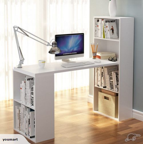 Study Table Computer Desk With Book Case White Trade Me