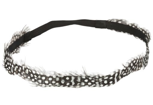 8/22/2012 Pick Your Price Jewelry Collection  $2.00  + FREE SHIPPING Feather Head-Wrap in Brown and Ivory Polka Dot Design