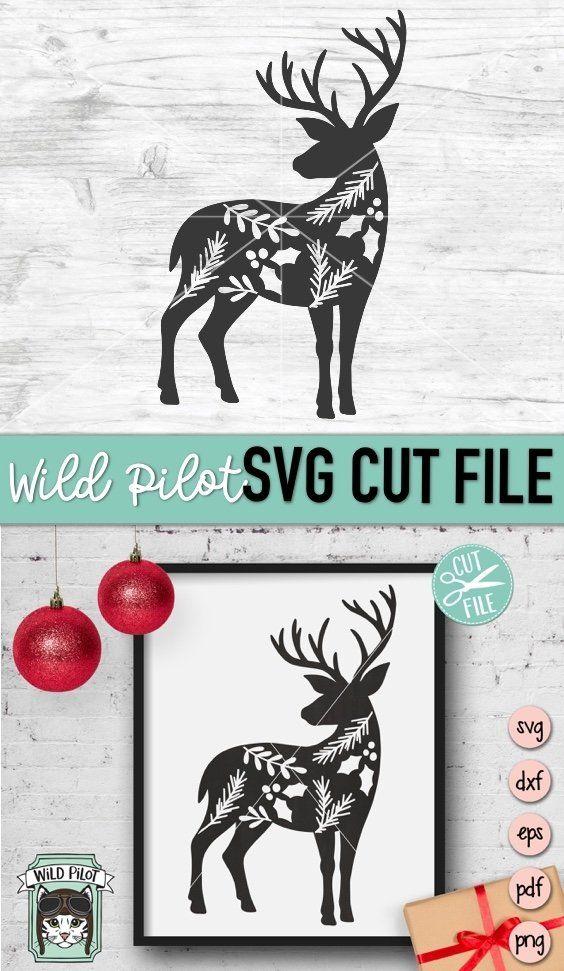 png. Reindeer Background Cut File SVG PDF