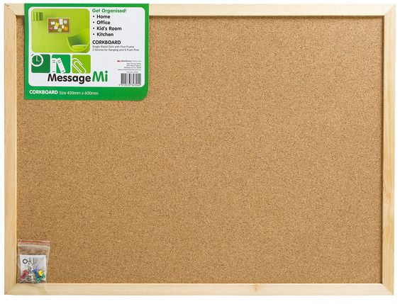 Board Cork Memo Message Mi 45x60cm Single Sided 343242 - Bunnings Warehouse