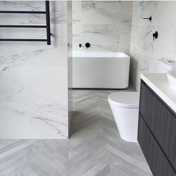 Www Sydneytaps Com Au White Marble Bathrooms Herringbone Tile Floors Trendy Bathroom Tiles