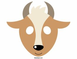 goat mask template christmas pinterest coloring the o 39 jays and animals. Black Bedroom Furniture Sets. Home Design Ideas