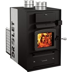 Drolet Heatmax Wood Furnace. Heats up to 2500 Square Feet! 22 Inch Log Capacity