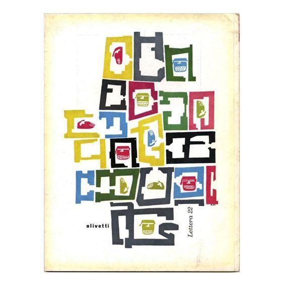 Olivetti Lettera 22 advertisment by Giovanni Pintori, 1957. #Olivetti    #lettera22    #vintagegraphicdesign    #GiovanniPintori    #italiandesign