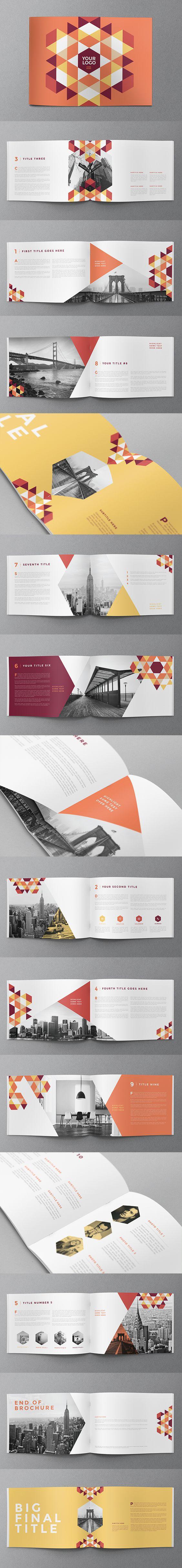 Modern Red Pattern Brochure
