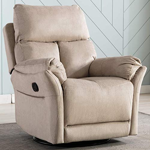 Amazing Offer On Anj Swivel Rocker Recliner Chair Reclining Chair Manual Single Modern Sofa Home Theater Seating Living Room R6488 Buff Online Weoffertop In 2020 Home Theater Seating Recliner Chair