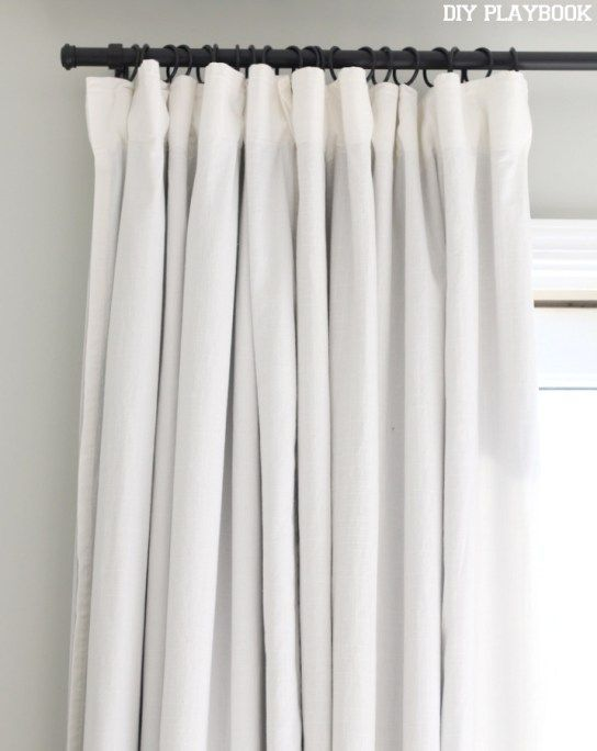 Ikea White Blackout Curtains In 2020 White Blackout Curtains Diy Curtains Curtains