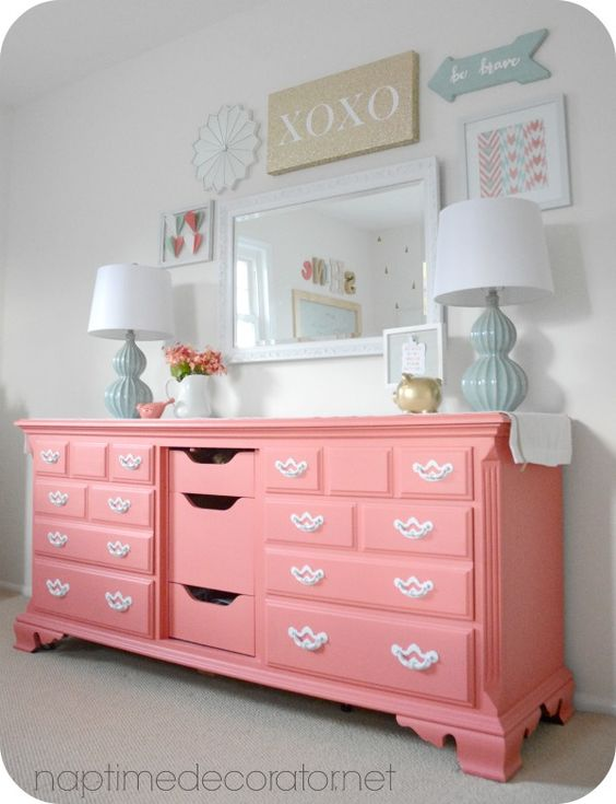 sherwin+Williams+begonia | Little Girl to Big Girl Room Makeover Reveal: