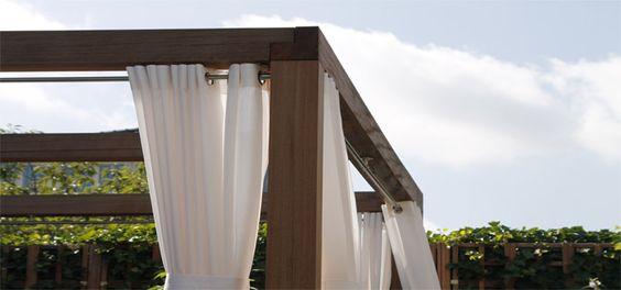 Een leuk idee voor in de tuin buiten gordijnen tuin pinterest tuin - Gordijnen voor overdekt terras ...