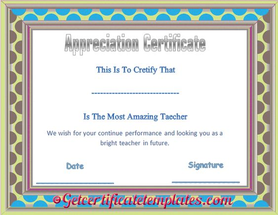 Certificates Of Appreciation - Templates, Samples \ Wording Arts - certificates of appreciation