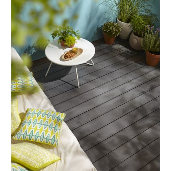 Lame de terrasse composite nods gris x cm - Lame de terrasse castorama ...