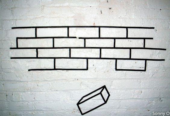 Black Duct Tape by Sonny O #ducttape #wallart #streetart #backandwhite #docteurwood