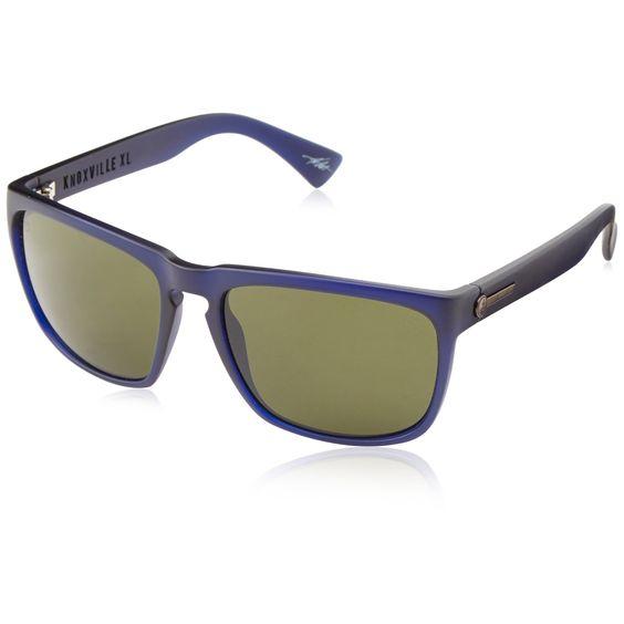 Electric Visual Knoxville XL Wayfarer Sunglasses Indigo Frame Melanin Grey Lens