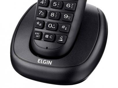 Telefone sem Fio Elgin Expansível até 4 Ramais - Identificador de chamadas…