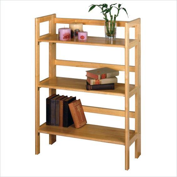 Winsome 3-Tier Foldable Shelf in Beech - 82896