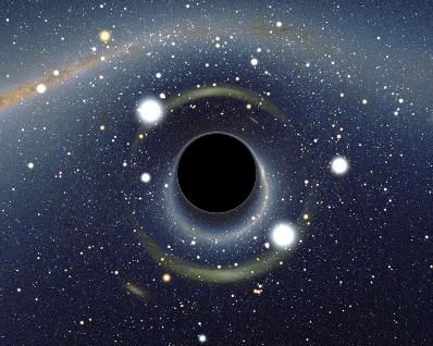 At the center of the Milky Way, there is a supermassive blackhole with a mass 4,000,000 times bigger than the Sun