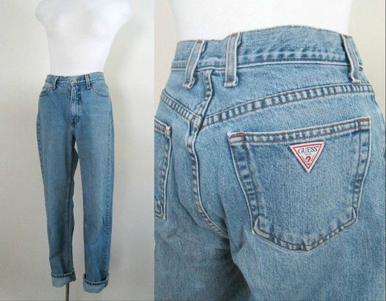 guess high waisted boyfriend jeans vintage 1980s size 29. Black Bedroom Furniture Sets. Home Design Ideas