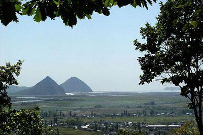 Pyramidal Twin Hills in Nakhodka, Russia