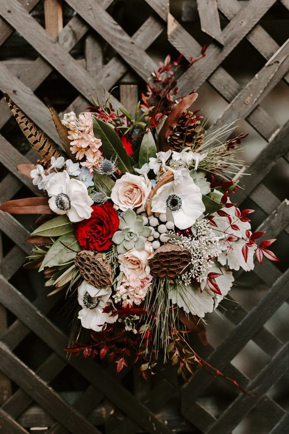 You Have To See The Unique Fashion Choices In This Epic Southern Wedding At Huguenot Mill And Loft Junebug Weddings Wedding Inspiration Fall Southern Wedding Winter Bridal Bouquets