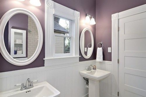The white grey and love this on pinterest - Grey white and purple bathroom ...