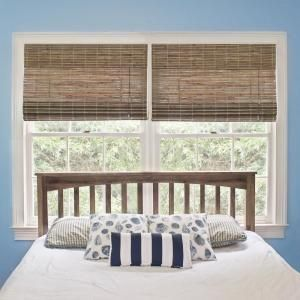 Home Decorators Collection Driftwood Flatweave Bamboo Roman Shade 23 In W X 48 In L Actual Size 22 5 In W X 48 In L 0259662 The Home Depot Bamboo Roman Shades Bamboo Shades Home Decorators Collection
