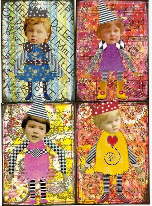 ATCs artist trading cards; available to swap by PaperScraps on flickr: altered art.