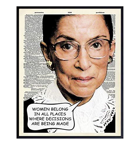 Ruth Bader Ginsburg Wall Art Print Upcycled Dictionary Pop Art Photo Great Home Decor Or Gift For Lawyers Or Attorneys Wall Art Prints Art Prints Wall Art