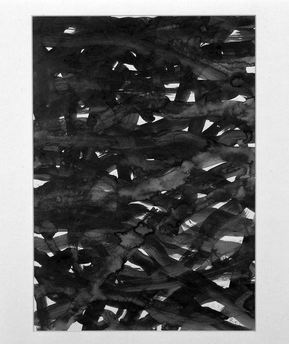 Raoul De Keyser, Malmedy, 1990-1991, drawing, ink, paper, 415 x 285 mm