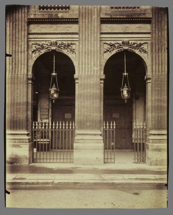 Palais Royal, Le Paris de 1900 par Atget