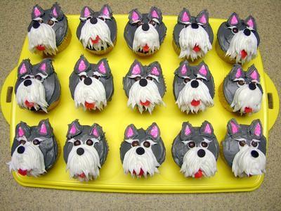 Schnauzer cupcakes