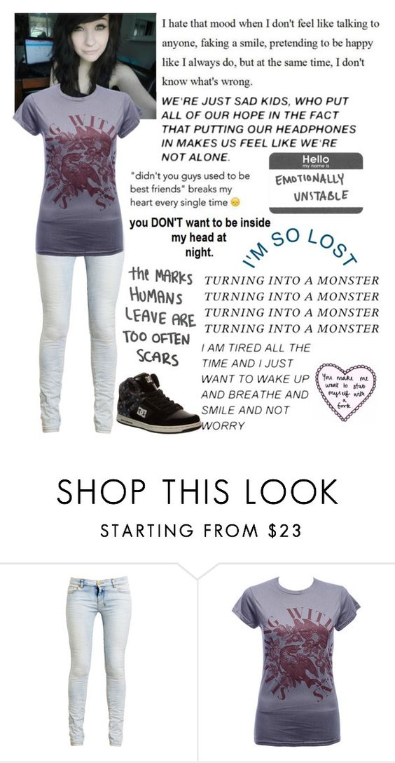 """""""I'm sorry please see the description"""" by emmcg915 ❤ liked on Polyvore featuring Ksubi and DC Shoes"""