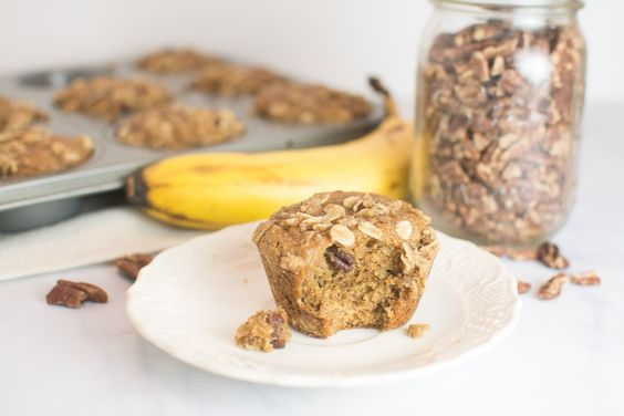 Low Sugar Banana Pecan Muffins Recipe