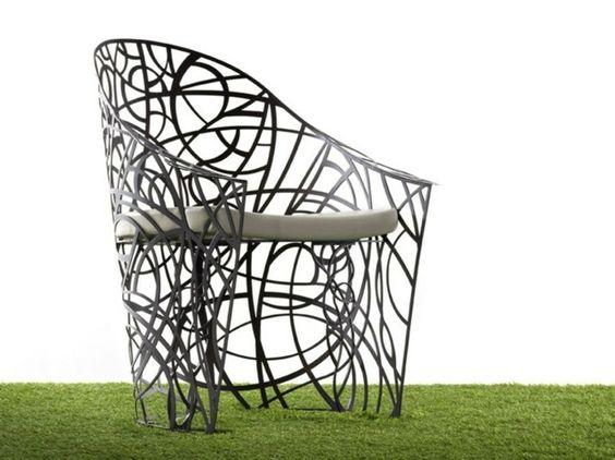 fauteuil de jardin en fer forgé
