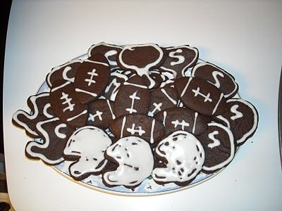 My FAVORITE cookies. Chocolate cutout cookies. My favorite is to use the white icing to decorate. Works great for so many events!