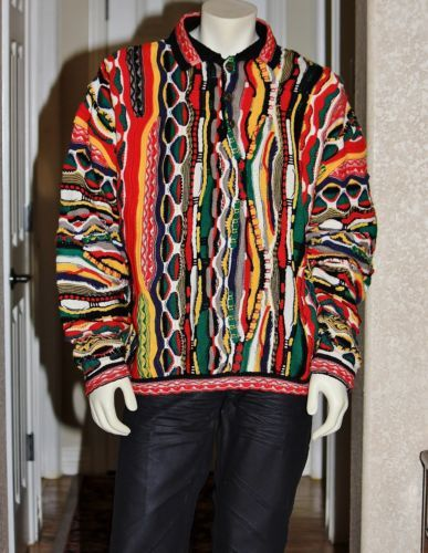 VTG 1980s AWESOME Bergati (Coogi LIKE) Sweater 100% Acrylic Cosby Sweater XL!