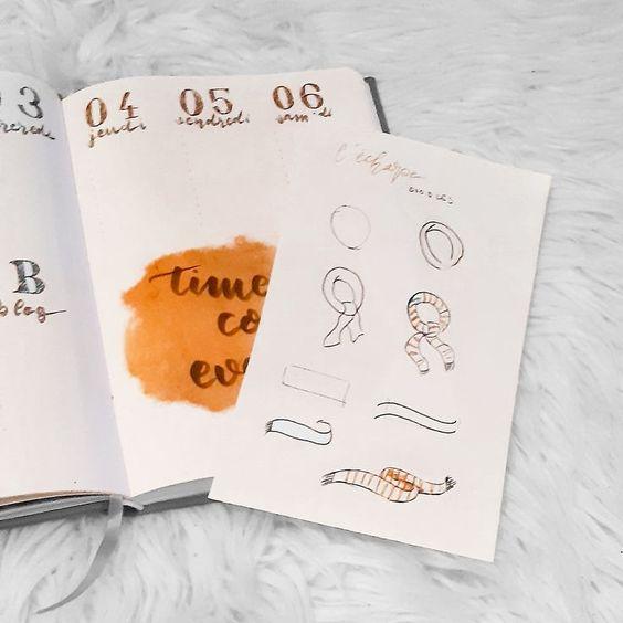 10 doodles pour votre Bullet Journal #3 : l'automne