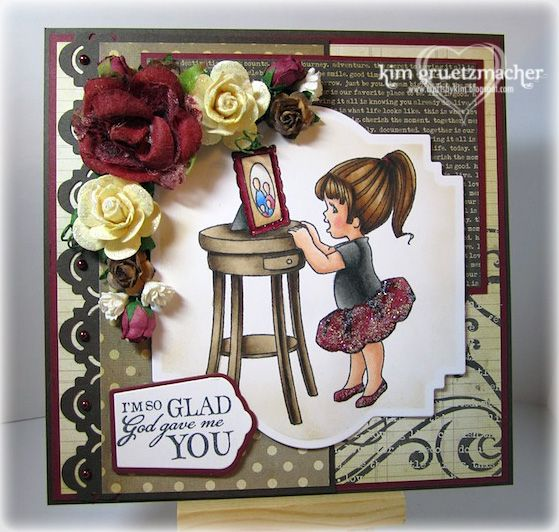 One of my cards featuring the new SCACD My Family Peeker stamp!  I love this Sweet Home Peekers Collection!!!