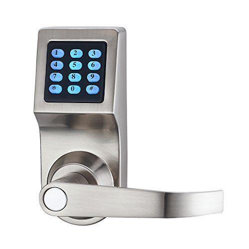 Haifuan Digital Door Lock Unlock With Remote Control M1 Card Code And Key Handle Direction Revisible Digital Door Lock Digital Lock Remote Control