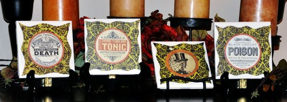 Apothecary Poison Label Coasters — Quilting With Purpose