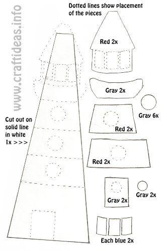 Craft Template - Lighthouse 500