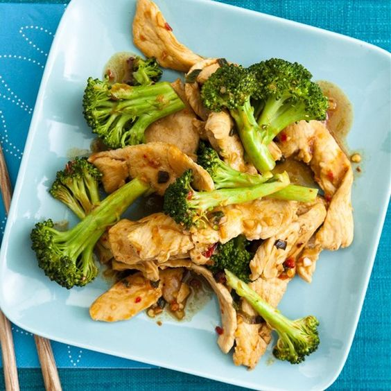 """Sweet and Spicy Stir Fry with Chicken and Broccoli   """"Garlic, crushed ..."""