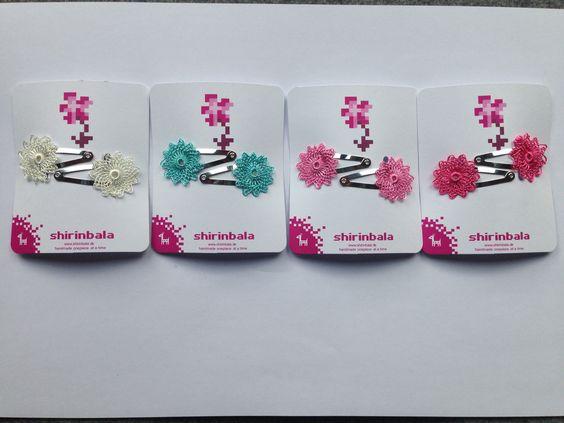 Nadelspitze auch als Oya bekannt. Süße mini Haarspangen in 4 verschiedenen Farben.