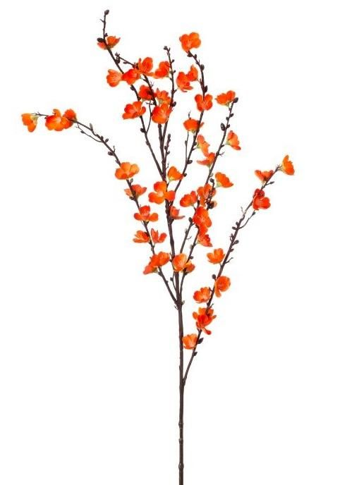 Orange Cherry Blossom Branch Artificial Spring Flowers Afloral Com Watercolor Flowers Paintings Cherry Blossom Branch Artificial Flowers