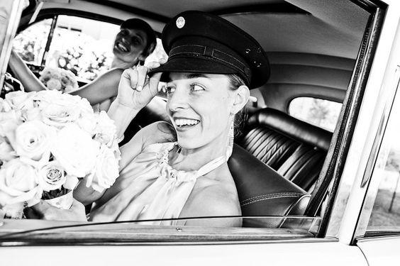 Belle in car