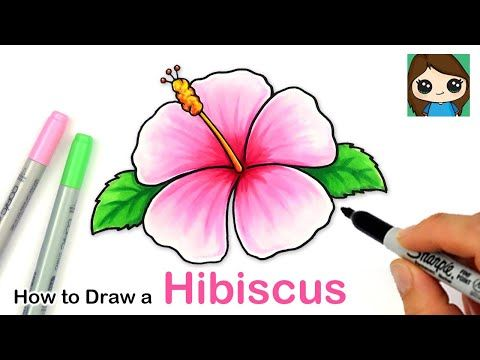 How To Draw A Hibiscus Flower Easy Youtube In 2020 Cute Flower Drawing Flower Drawing Flower Drawing Images